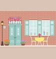 street building facade house front shop vector image