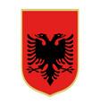 symbol albania national emblem vector image