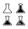 test tube icons vector image vector image