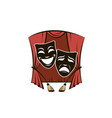 theatrical masks set vector image