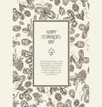 vintage st patricks day floral template vector image vector image