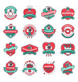 wedding fashion badges vector image