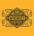 western design whiskey label vector image vector image