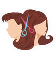 hairdressing salon - icon vector image