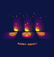 diwali lamp bright colorful sign isolated on dark vector image
