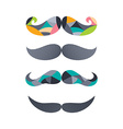 retro hipster mustache vector image