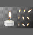 3d burning realistic candle light or tea vector image vector image