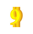 9 numeral bitcoin font nine numeric crypto vector image vector image