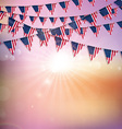 american flag bunting background 1406 vector image