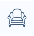 Armchair sketch icon vector image vector image
