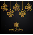 black and golden merry christmas background vector image