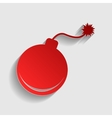 Bomb sign vector image vector image