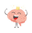 brain characters king winner making sport vector image vector image