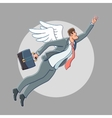 Business angel cartoon vector image vector image