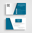 Business card with blue white effect design vector image vector image