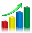 Business growth graph vector image vector image