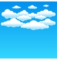 cartoon blue clouds vector image vector image