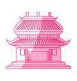 chinese temple symbol vector image vector image