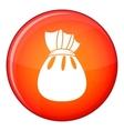 Christmas bag of Santa Claus icon flat style vector image