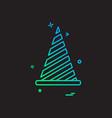 cone icon design vector image