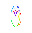 continuous line drawing bird owl owl logo design vector image