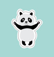 cute cartoon panda standing with stretched arms vector image vector image