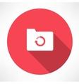cycle folder icon vector image vector image