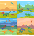 Dinosaurs 2x2 Design Concept vector image vector image