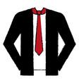 elegant suit business icon vector image