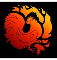Fire Rooster 2017 vector image