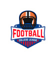 football league College league vector image