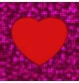 glowing heart background vector image vector image