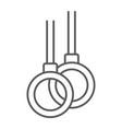 gymnastic rings thin line icon athletics sport vector image vector image