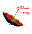 halloween umbrella in flat style isolated on vector image
