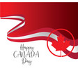happy canada day template vector image vector image