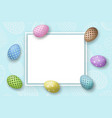 happy easter background pastel eggs texture vector image vector image