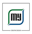 initial letter my logo template design vector image