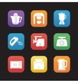 Kitchen electronics flat design icons set vector image vector image