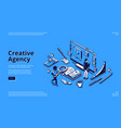landing page for creative agency vector image vector image