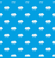 lot of trees pattern seamless blue vector image vector image