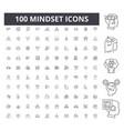 mindset line icons signs set outline vector image