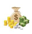 money bag design background vector image
