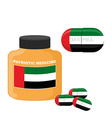 National Patriotic medicine UAE Pill with the flag vector image vector image
