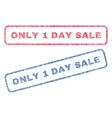 only 1 day sale textile stamps vector image vector image