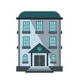 private residential cottage house flat icon vector image vector image