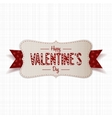 Realistic Happy Valentines Day greeting paper Card vector image vector image