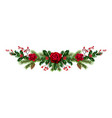 roses and pine decor vector image vector image
