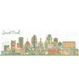 saint paul minnesota city skyline with color vector image vector image