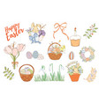 set easter elements vector image