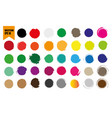 set of multicolored beautiful watercolor circles vector image